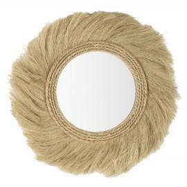 Espejo redondo fibra natural 60cm.