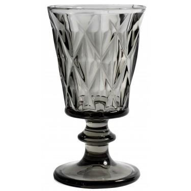 Copa vino cristal ahumado.