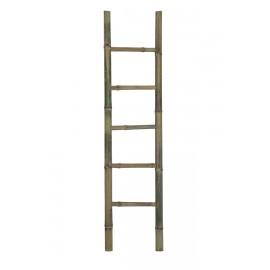 Escalera bambú natural.