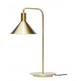 Lámpara de mesa latón.