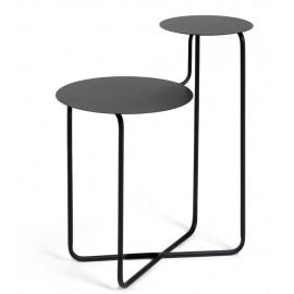 Mesa auxiliar redonda Vidalita metal negro 56,5 x 35 cm