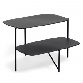 Mesa auxiliar Wigan metal negro 62 x 58 cm