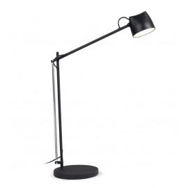 Lámpara de mesa Eldina de metal con acabado negro