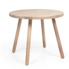 Mesa infantil redonda Dilcia madera maciza caucho Ø 55 cm
