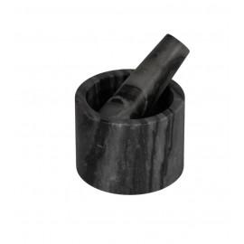 Mortero Johana mármol negro