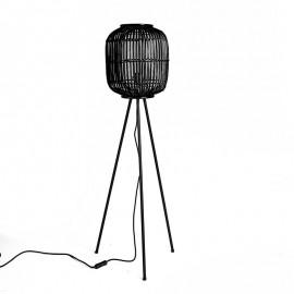 Lámpara de bambú negra.