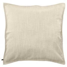 Funda de cojín Blok de lino blanco 60 x 60 cm