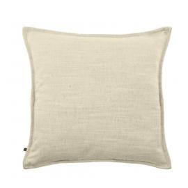 Funda de cojín Blok de lino blanco 45 x 45 cm