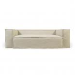 Sofá desenfundable Blok de 2 plazas con lino blanco 210 cm