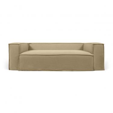 Funda para sofá Blok de 3 plazas con lino beige