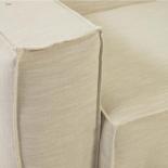 Funda para sofá Blok de 3 plazas con lino blanco