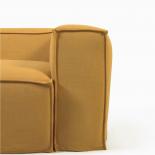 Sofá desenfundable Blok de 2 plazas con lino mostaza 210 cm