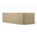 Sofá desenfundable Blok de 2 plazas chaise longue derecho con lino beige 240 cm