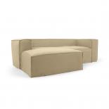 Sofá desenfundable Blok de 2 plazas chaise longue izquierdo con lino beige 240 cm