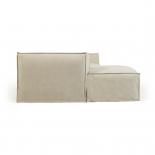 Sofá desenfundable Blok de 2 plazas chaise longue izquierdo con lino blanco 240 cm