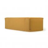 Sofá desenfundable Blok de 2 plazas chaise longue izquierdo con lino mostaza 240 cm
