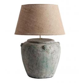 Lámpara de sobremesa con base en terracota