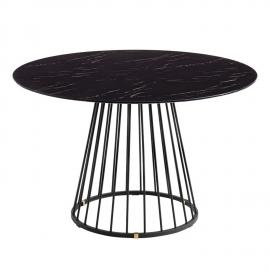 Mesa de comedor marmolado negro 120x120x75cm