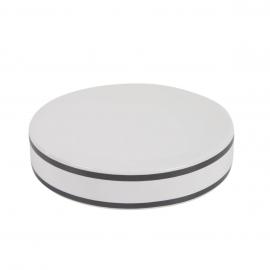 Jabonera Arminda de cerámica blanco y detalle negro