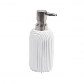 Dispensador de jabón Ateneas de poliresina blanco