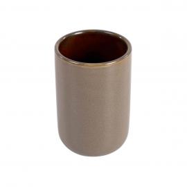 Portacepillos Berdolina de cerámica marrón