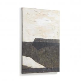 Lienzo Zanila blanco y negro 60 x 90 cm