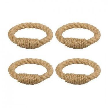 pack 4 servilleteros cuerda Juta dia7xh1.5cm