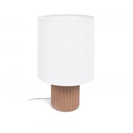 Lámpara de mesa Eshe de cerámica con acabado terracota y blanco