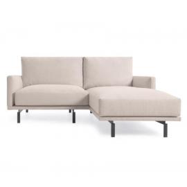 Sofá Galene 3 plazas con chaise longue derecho beige 194 cm