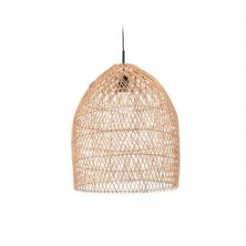 Pantalla para lámpara Domitila 100% ratán con acabado natural Ø 44 cm