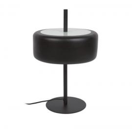 Lámpara de mesa Francisca de metal con acabado negro y cristal