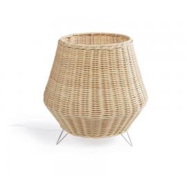 Lámpara de mesa Kamaria de ratán con acabado natural