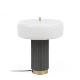 Lámpara de mesa Serenella de metal con acabado pintado blanco y verde