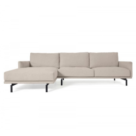 Sofá Galene 3 plazas con chaise longue izquierdo beige 254 cm
