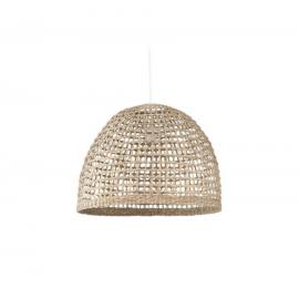 Pantalla para lámpara Cynara 100% fibras naturales con acabado natural Ø 49 cm