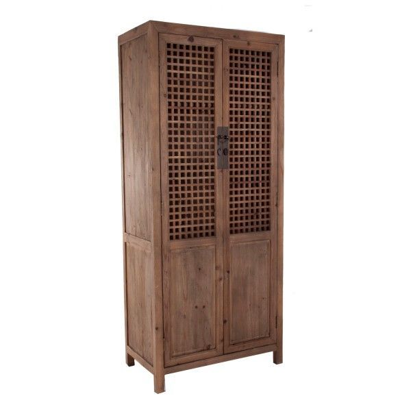 Vitrina jinan antic de estilo oriental de madera de pino for Puertas de madera reciclada