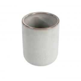 Portacepillos Chavela de cerámica gris