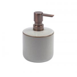 Dispensador de jabón Chavela de cerámica gris
