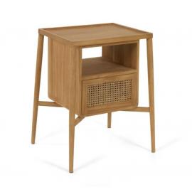 Mueble de baño Uliana de madera maciza de teca 65 x 80 cm