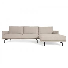 Sofá Galene 4 plazas con chaise longue derecho beige 314 cm