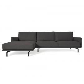 Sofá Galene 4 plazas con chaise longue izquierdo gris 314 cm