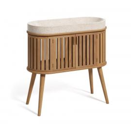 Mueble de baño con lavabo encimera Rokia de madera maciza de teca 90 x 80 cm