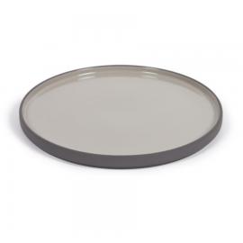 Plato plano Thianela de porcelana gris