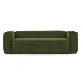 Sofá Blok 2 plazas pana gruesa verde 210 cm