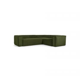 Sofá rinconero Blok 3 plazas pana gruesa verde 290 x 230 cm