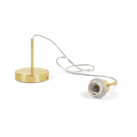 Montura para lámpara de techo Fulvia de metal con acabado dorado