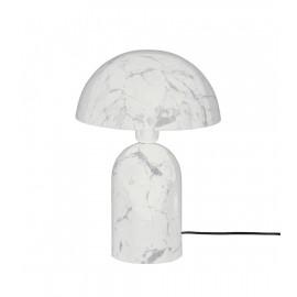 Lámpara de mesa efecto mármol.