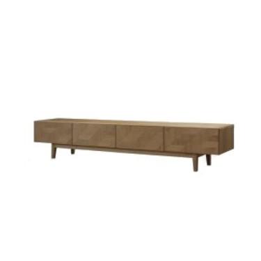 Mueble TV madera. 210x40x40 cm.