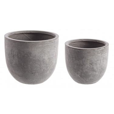 Maceta efecto cemento gris. Varios tamaños.