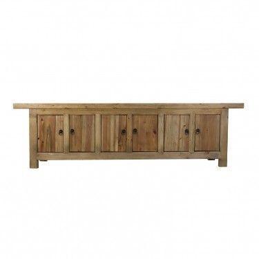 Mueble tv ansun envejecido de estilo oriental r stico for Mueble 6 puertas